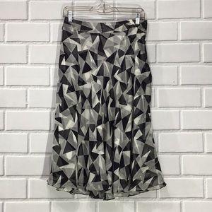 Jones NewYork 100% Silk Black and white skirt 6
